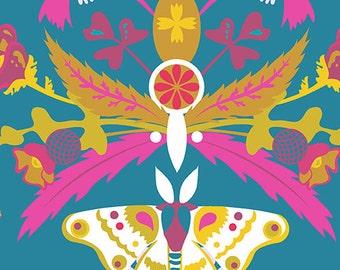 Alison Glass for Andover Ex Libris Bookplate Teal (Half metre)