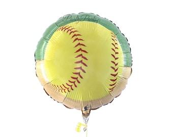softball balloon, fastpitch party decorations, 1CT, 18 in, mylar foil, girls sports, graduation ideas, team banquet, teens gift, soft ball