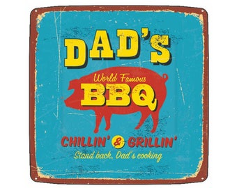 dads bbq plates, Fathers Day paper plates, vintage inspired, mens birthday ideas, grilling decor, family reunion, summer block party, pig