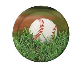 Baseball plates, paper plates, 8CT, 8.75 inches, sports party, birthday ideas, party supplies, graduation, team banquet, All Stars