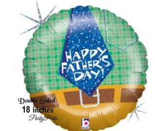 Fathers Day balloon, happy father's day, mens gift ideas, for dads, husbands, fathers, necktie, decorations, party supplies