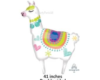 llama balloon, llama party decorations, fiesta, farm animals, childrens birthday, llamas, alpacas, zoo