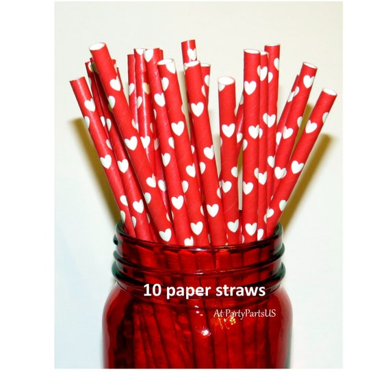 Red Heart Straws Nursing School Graduation Decorations Red And
