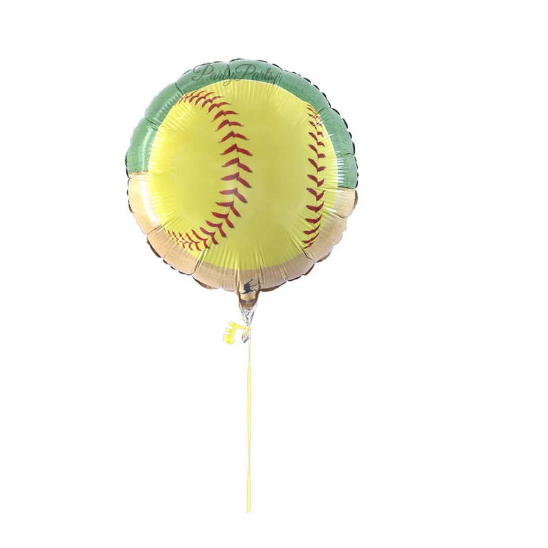 Softball Balloon Fastpitch Party Decorations 1CT 18 In Mylar Foil Girls Sports Graduation Ideas Team Banquet Teens Gift Soft Ball