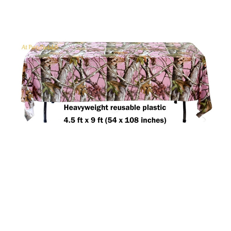 Pink Camo Tablecloth Pink Camo Table Cover Its A Doe Gender Etsy