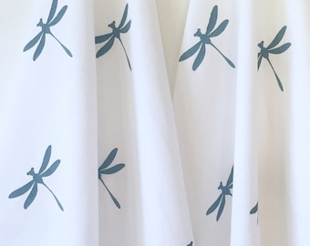 Tea Towel - Dish Towel - Hand Printing - Dragonfly