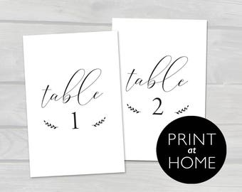 PDF Printable Black or Navy Wedding Table Numbers Signs | 4x6 Instant Download | Numbers 1-20 | Black Numbers Wedding Table Decor