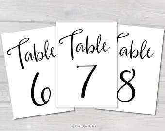 photo about Free Printable Table Numbers 1-20 referred to as Desk quantities 1 15 Etsy