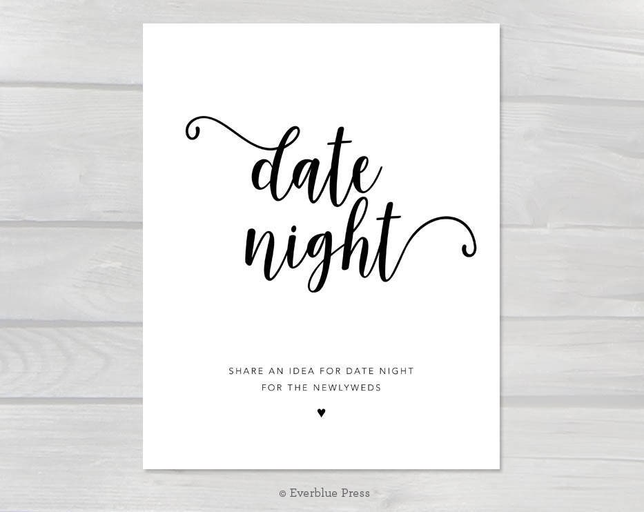 picture relating to Date Night Jar Printable called Day Evening Jar Printable Signal, 5x7 8x10 PDF Fast Obtain, Day Strategy Advice Indication, Selection Visitor Guide, Wedding day Shower Occasion Activity