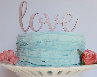 Love Wedding Cake Topper Love Cake Topper Wedding Cake Etsy