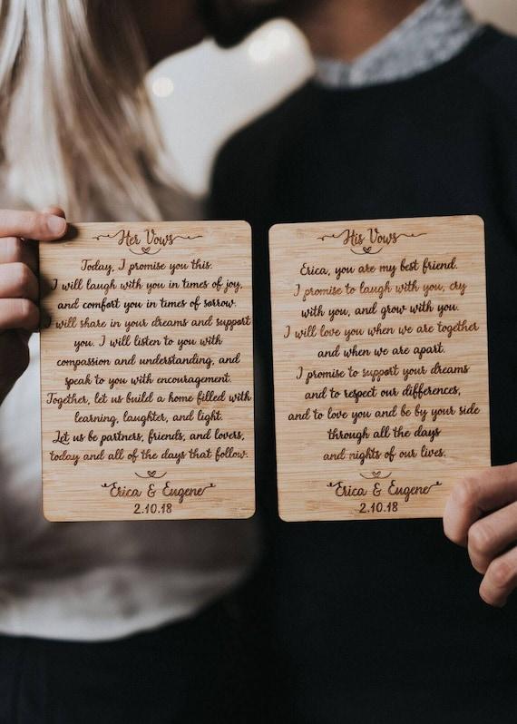 Personalisierte Eheversprechen Set von 2 benutzerdefinierte