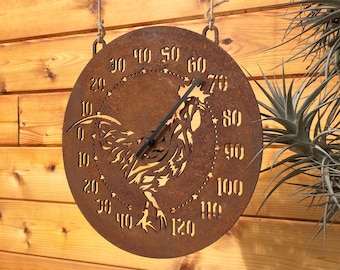 Outdoor Rooster Thermometer