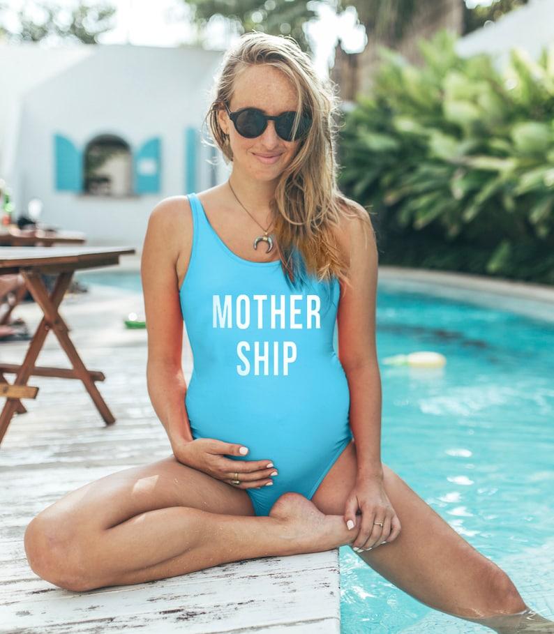 5624356b629b7 Maternity Swimwear Mothership Mamagama Maternity Swim | Etsy
