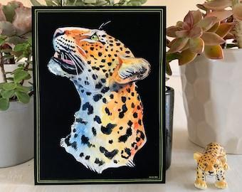 Colorful Leopard Print ~ Wall Decor ~ Fine Art Print ~ Big Cat ~ Animal Art