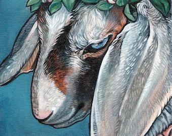 Flower Crown Goat