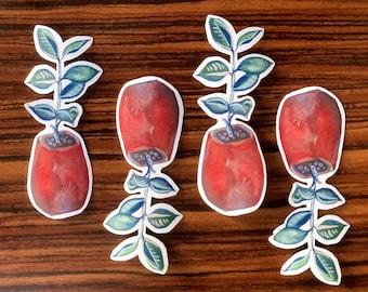"3.5"" Terracotta Potted Houseplant Sticker - Cut Vinyl Stickers - Die Cut Sticker - Potted Plant - Botanical Scrapbook Sticker"