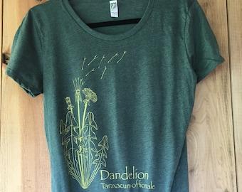 Women's Dandelion on forest green
