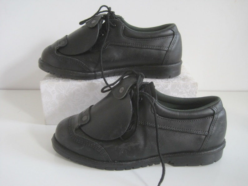 a889ceb9337 Metatarsal Work Boots Size 9.5 W Womens Safety Guard WORK 1 Leather Black  USA NWOT A1707