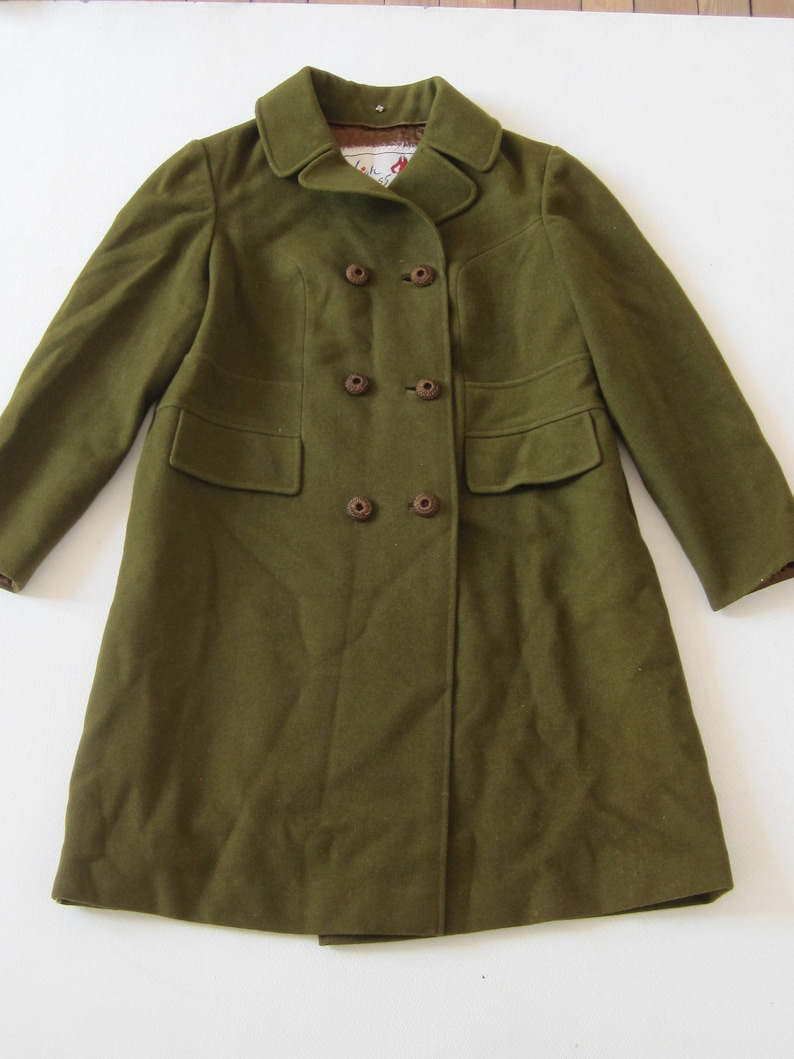164c2074cdc Swing Coat Vintage Womens Ladies HIGH CLASS Double Breasted