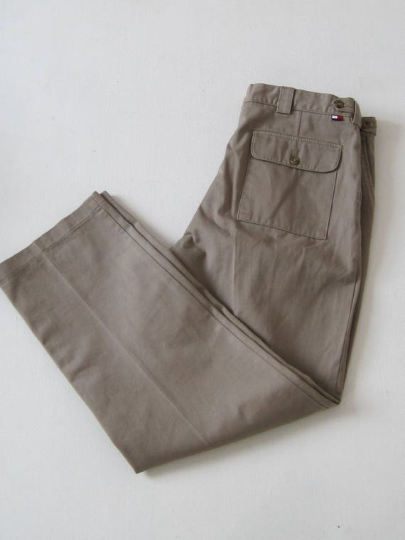 f94d2ecf2 TOMMY HILFIGER Pants Vintage 36x30 Mens Pleated Tan A5116 | Etsy