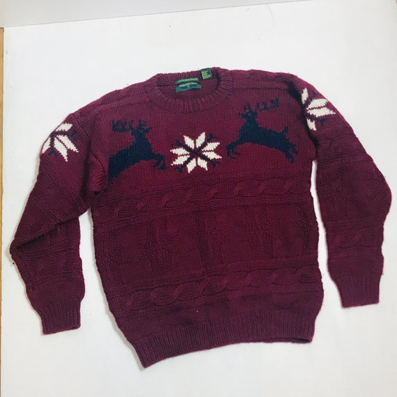1f8f6eeabbe5 Vintage Ugly Christmas Sweater Large L Mens EMBASSY ROW Crew