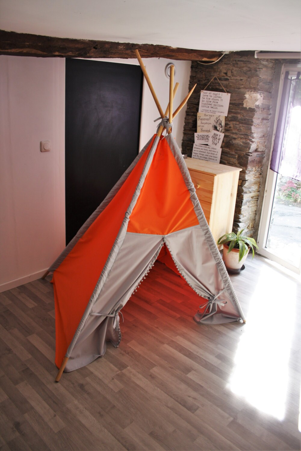 gro e kinder tipi tipi zelt zelt spielzelt keine holz stangen etsy. Black Bedroom Furniture Sets. Home Design Ideas