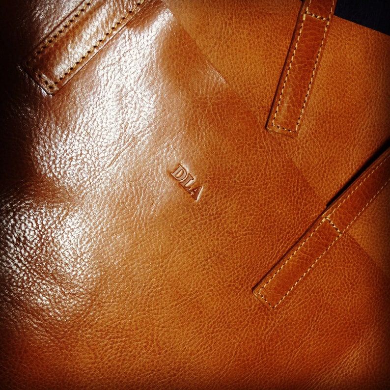 Add monogram to your leather bag  Personalize your purse  image 0