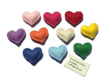 Felt Pocket Hearts / Worry Hearts / Comfort Hearts / Camp Hearts / School Hearts / Grief Hearts