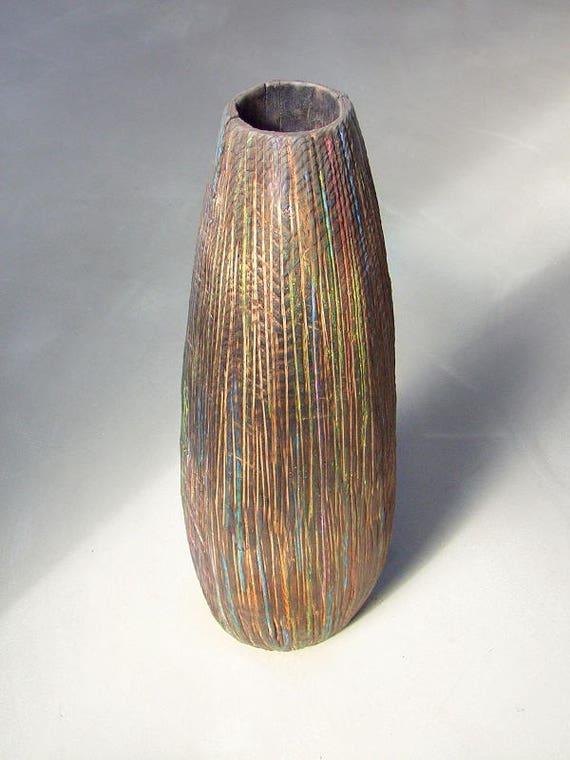 Xxl Dekovase Wood Vase Floor Vase Planter Vase Etsy