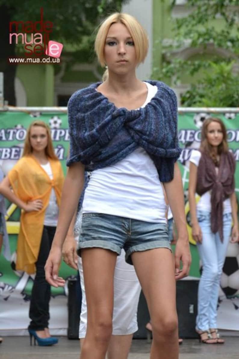 Multi fashion transformer poncho scarf shawl Bolero vest cardigan machine knit trend of the season handmade women/'s cardigan