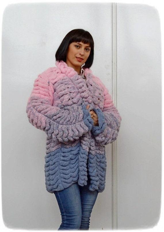Ausverkauf!! Mohair stricken Strickjacke im Stil von Lalo Frauen gestrickte Strickjacke warm E Strickjacke gestrickte Mohair Pullover Mode Strickjacke