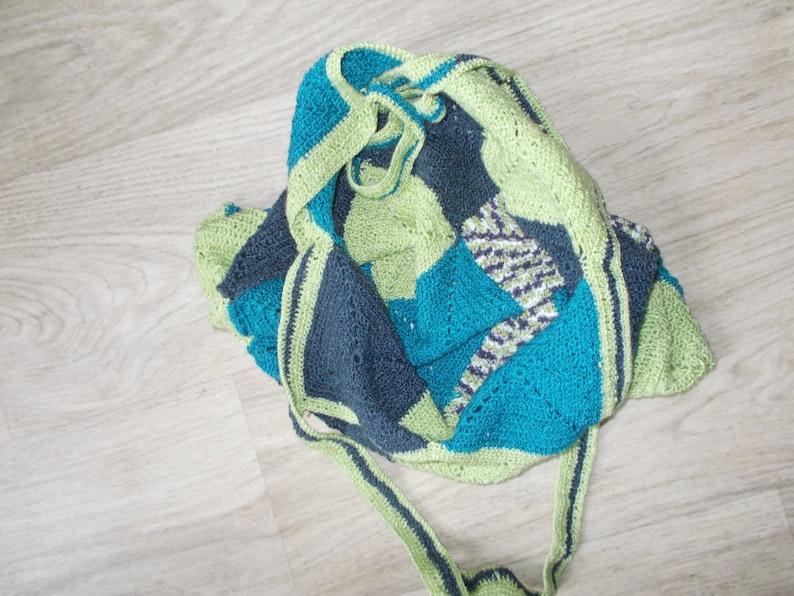 Hand Knitted Backpack Woman backpack Fashion Bag Backpack bag Unique Backpack Drawstring Hand Knitted Backpack Fashion Bag Unique Backpack.