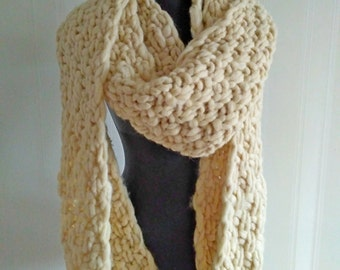 Super Chunky Scarf, Giant Knit scarf wool scarf Arm KnitHandmadeSuper Chunky infinity scarf knit scarf Super bulky scarf scarf Knitted scarf