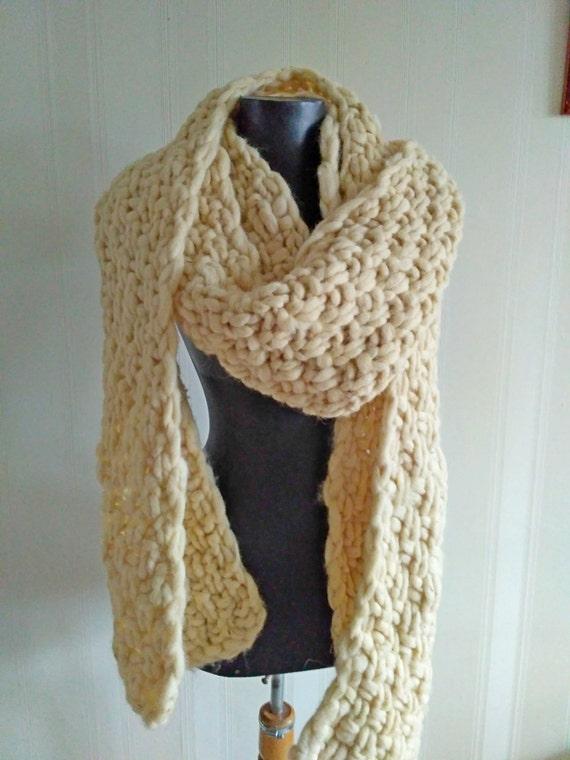 Super Chunky Schal riesigen stricken Wolle Schal Arm | Etsy