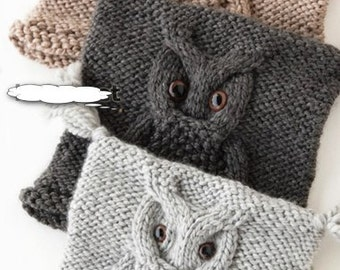 Knitted hat-Owl. Handmade. cap wool knitting hand made