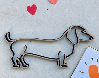 Deko Aufsteller LOVE « DACKEL » Hunde Hunderasse Kurzhaardackel Teckel Liebe