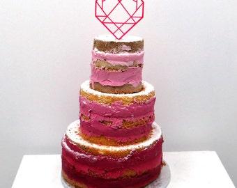 Cake topper - Herz - Wedding