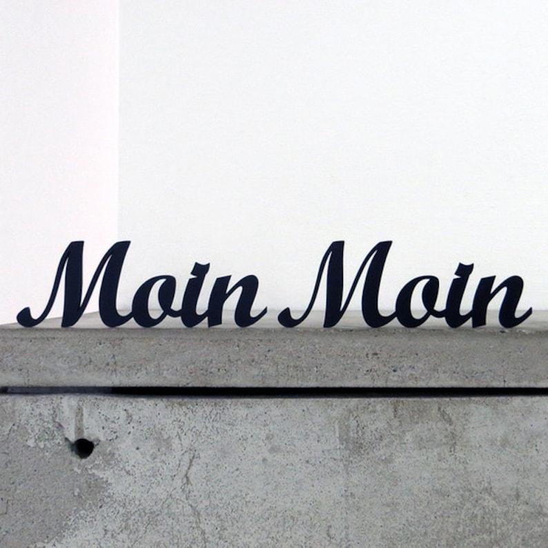 Moin Moin Deko Schriftzug Gross Etsy