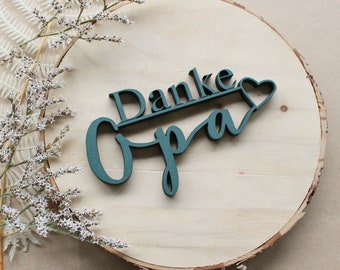Thank you Grandpa Decoration Wooden Lettering