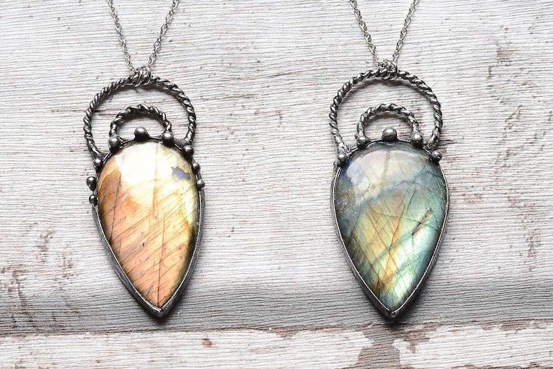 Labradorite necklace      nickel/&lead free chain