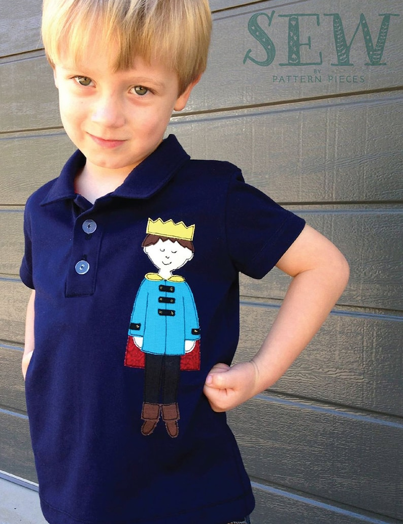 Prince Patrick free-motion applique pattern and FMA tutorial  image 0