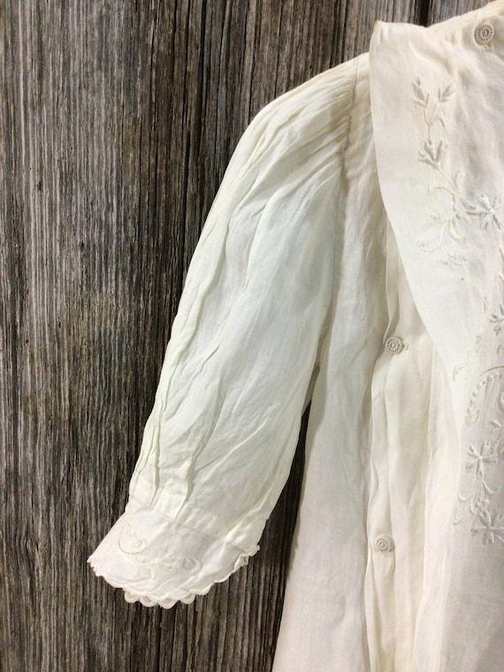 Antique Edwardian embroidered maternity blouse - image 2