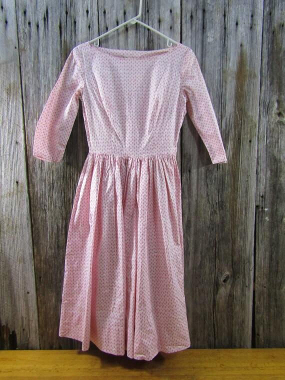 2 vintage pink cotton dresses