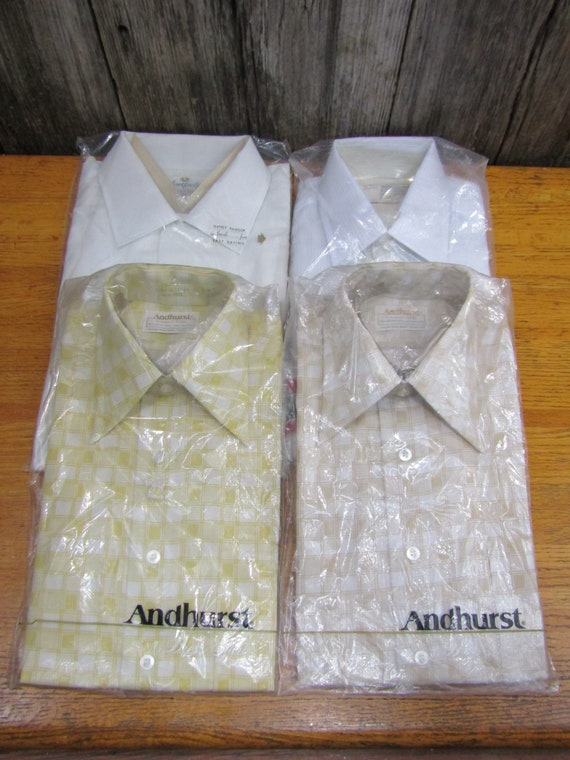 Lot of 4 vintage NIP men's shirts