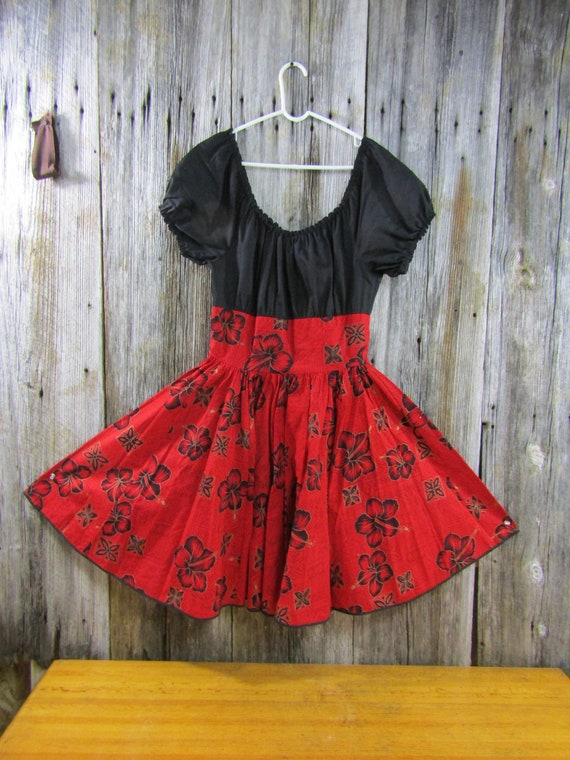 Great vintage rockabilly square dance dress
