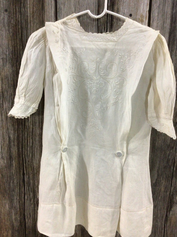 Antique Edwardian embroidered maternity blouse