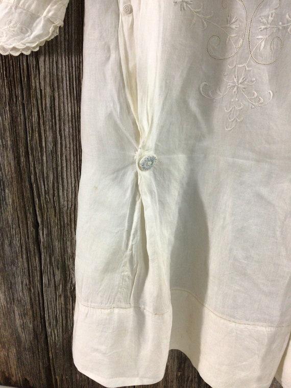 Antique Edwardian embroidered maternity blouse - image 4