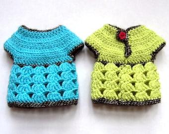 Roselette Chéries - Patron de crochet PDF pour des vêtements pour poupées de 32-35 cm comme les Chéries