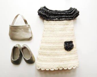 Perline Chéries - Patron de crochet en PDF pour une robe ou tunique + bonnet assorti pour Poupées les Chéries de Corolle