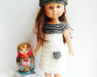 Perline Chéries - Patron de crochet en PDF pour une robe, tunique et bonnet pour Poupées les Chéries de Corolle